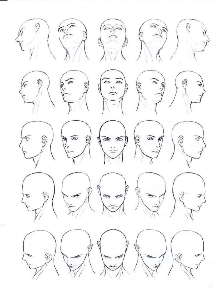 Manga Head All Angles Google Search Face Angles Body Drawing Human Body Drawing