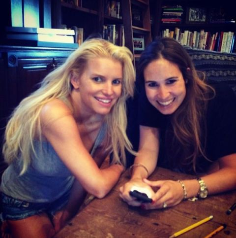 <p>Jessica Simpson smiles with her friend Koko onMay 18, 2014.</p>