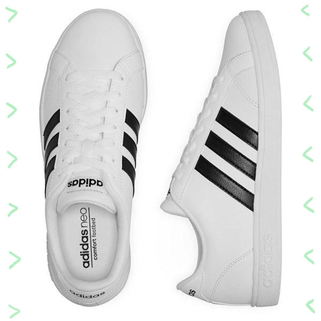 Corredor danza aplausos  adidas Shoes | Girls Adidas Neo Black & White Stripe Sneakers 1 | Color:  Black/White | Size: 1g | Adidas shoes women, Adidas sneakers, Womens  athletic shoes