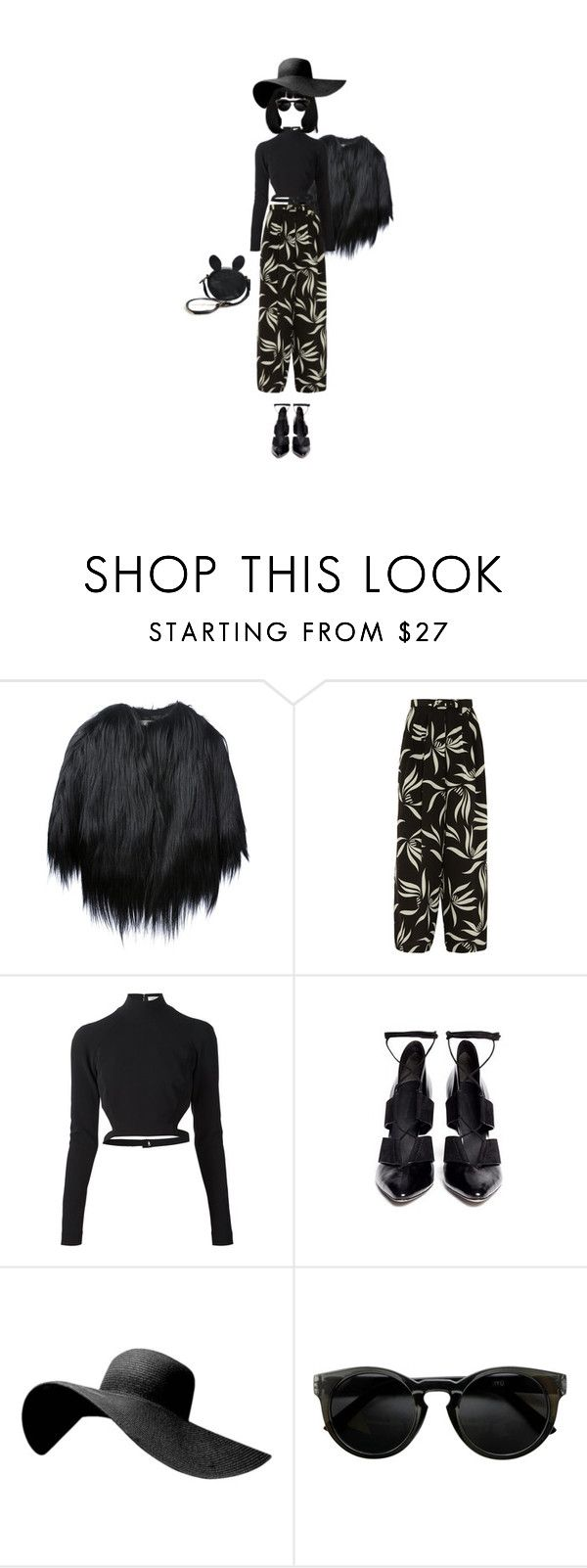 """""""Без названия #216"""" by siv8671 ❤ liked on Polyvore featuring Yves Salomon, Etro, Thierry Mugler and Alexander Wang"""