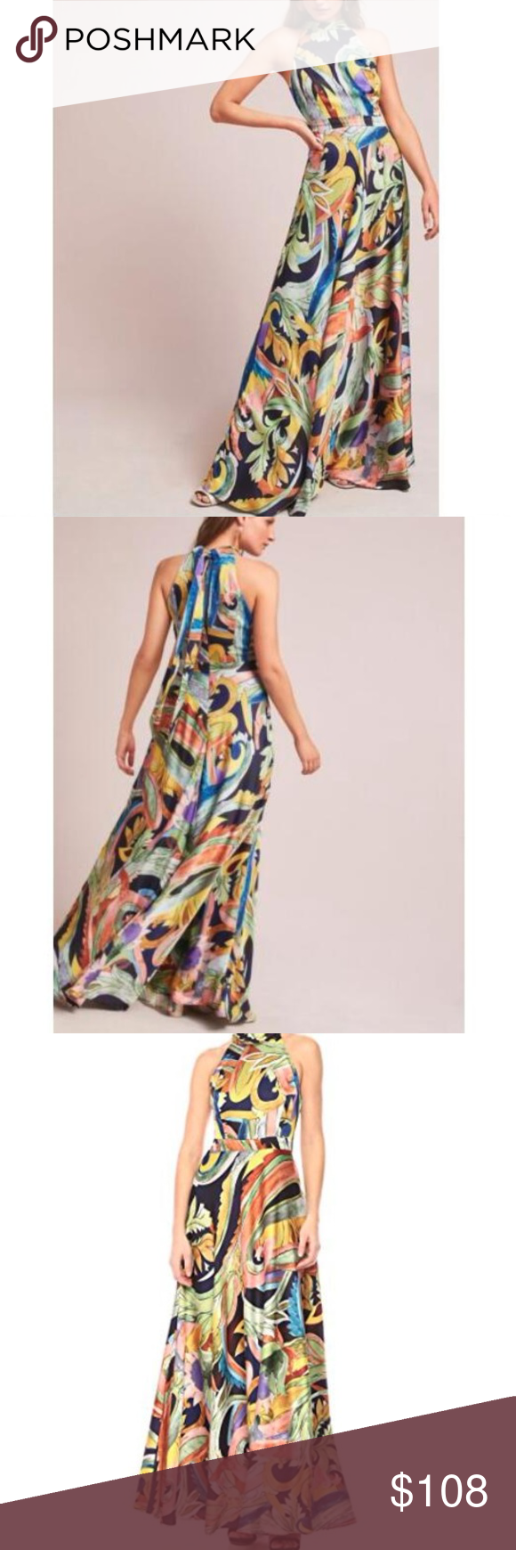 24ecc30aac93 Skyscraper Maxi Dress By Nicole Miller Waisted maxi silhouette High ...