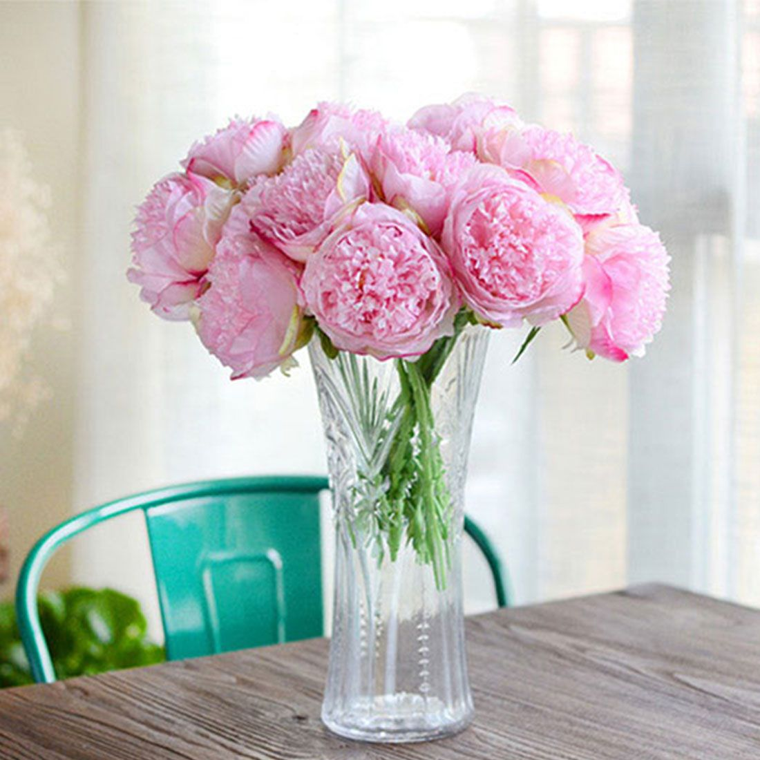 Artificial fake peony silk flowers bridal bouquet flower arrangement cheap fake peonies buy quality flower arrangement directly from china flowers bridal bouquet suppliers great cheap artificial fake peony silk flowers izmirmasajfo Choice Image