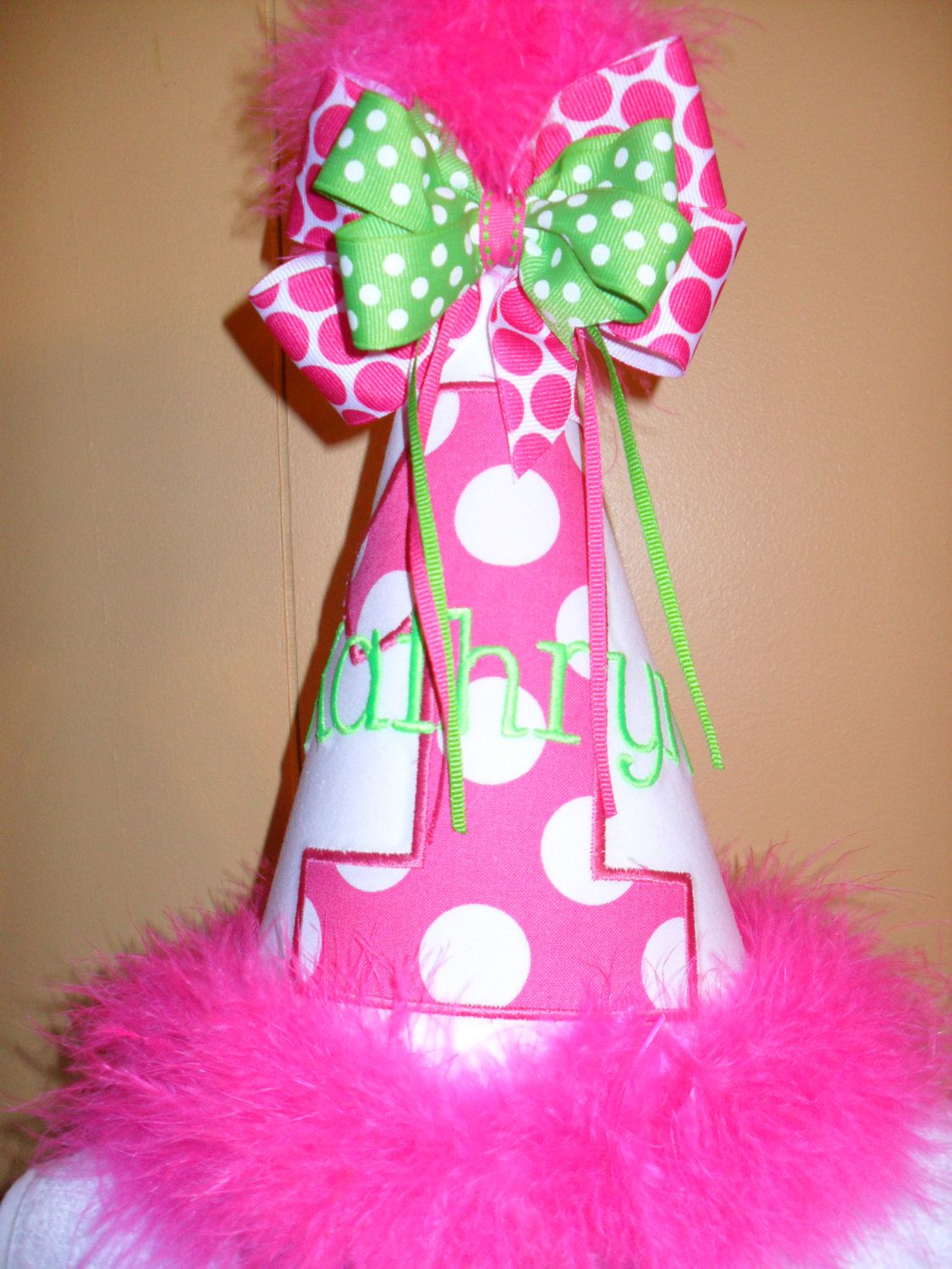 Boutique First Birthday Hat Personalized