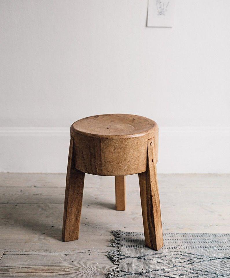 Oscar\' teak stool   Olive and the Fox   mobili   Pinterest   Teak ...