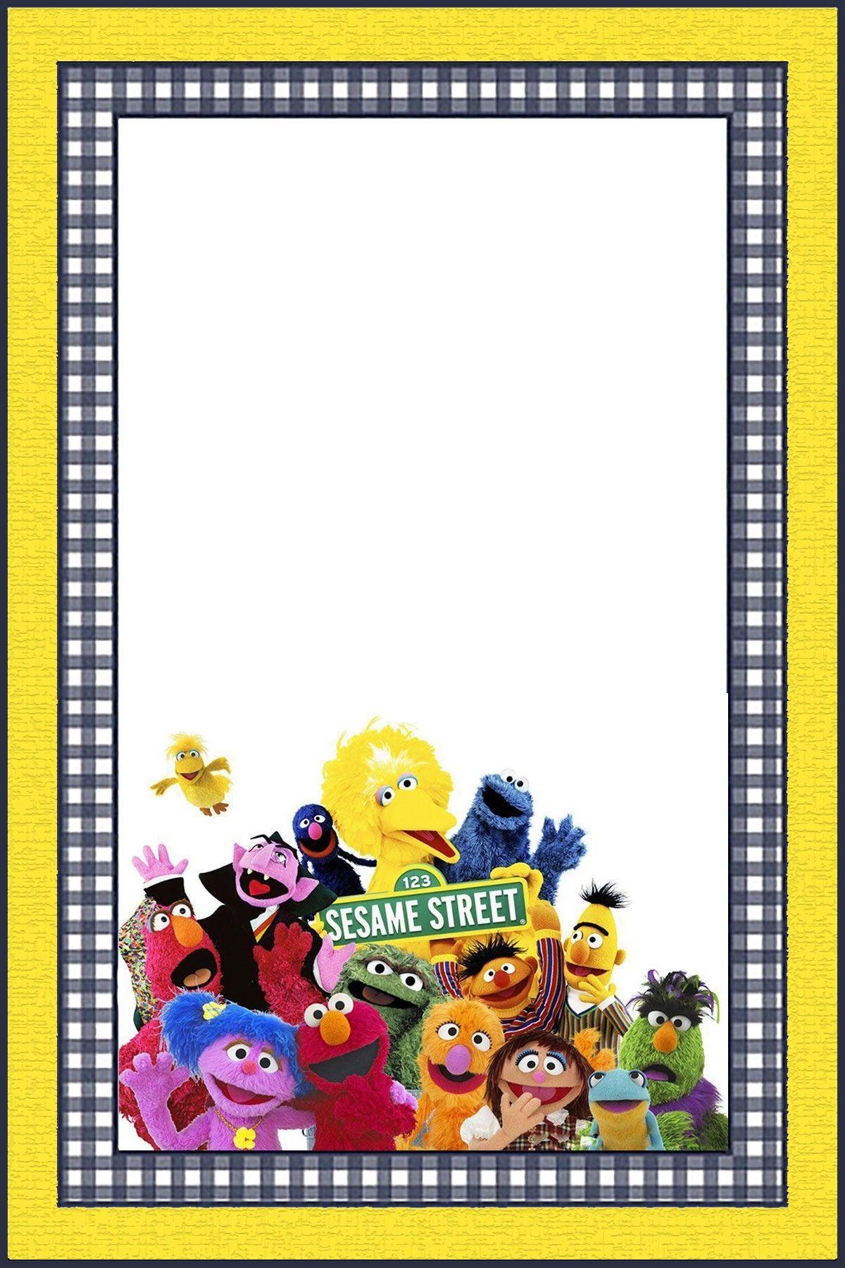Free Online Sesame Street Invitation Template Coolest Invitation