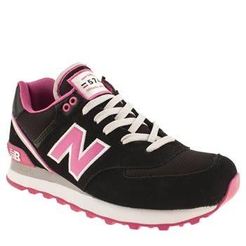 nb 574 black white