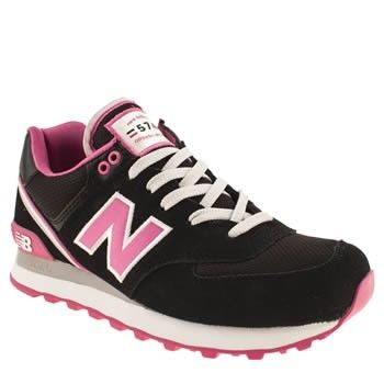 chaussures new balance 574 femme stadium jacket noir rose blanche