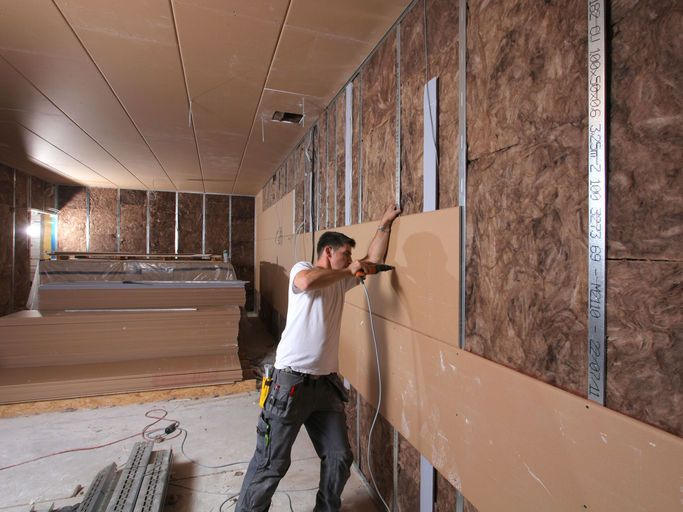 Knauf Silentboard Sound Shield Board Is Used In All Fields Of Interior Works As Cladding Or Upgrade Of Drywall Systems With Fir Sound Insulation Cladding Osb