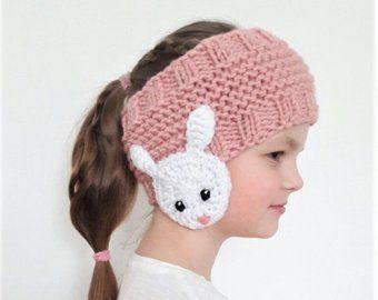 Owl Headband, Winter Accessory, Ear Warmer, Knit Headband, Earmuffs, Kids Outfit, Crochet Appliqués, Owl Motifs, Girls Accessories, Handmade