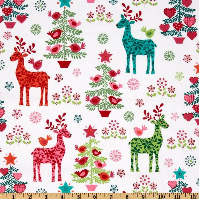 Michael Miller Nordic Holiday Nordic Holiday Multi Holiday Fabric Christmas Fabric Michael Miller Fabric