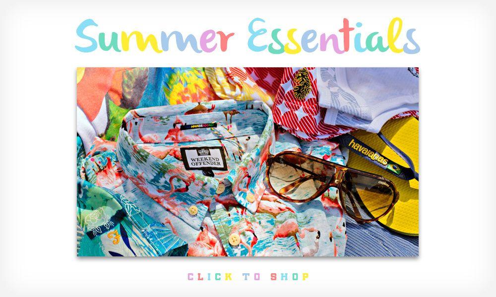 Our summer essentials 2014 www.xileclothing.com #summer #menswear #fashion #weekendoffender #shirt #sunglasses