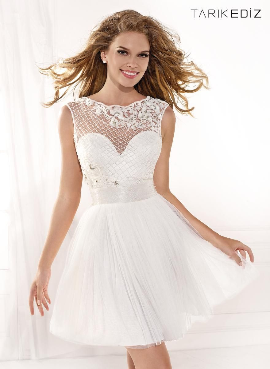 White Short Formal Dresses