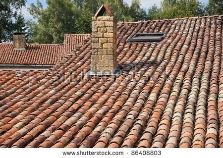 Roof With Old Mediterranean Tiles Stock Photo Mediterranean Tile Roof Stock Photos