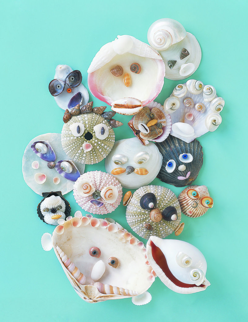 Seashell craft diy cute seashell critters for Sea shell crafts
