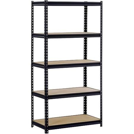 "Walmart Utility Shelves Edsal 36""w X 18""d X 72""h Fiveshelf Steel Shelving Black  Home"