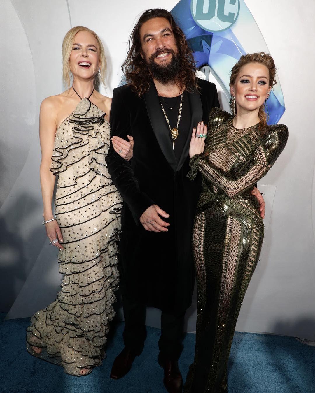 Jason Momoa, Nicole Kidman And Amber Heard L.A. Aquaman