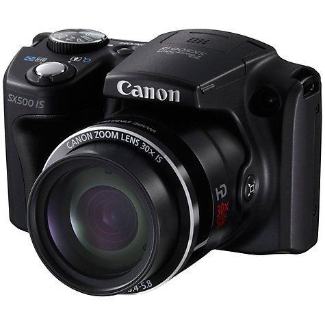 Buy Canon PowerShot SX500 IS Bridge Camera, HD 720p, 16MP