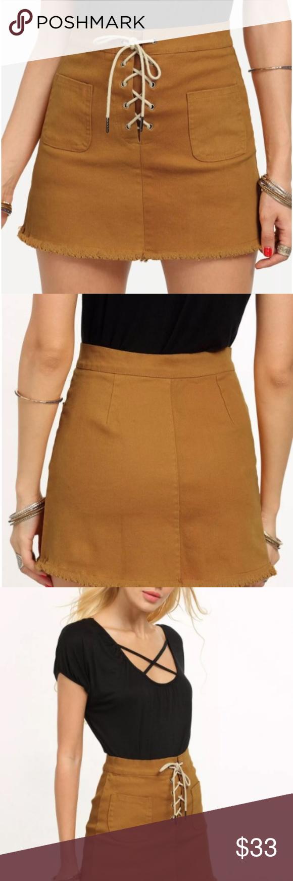 59d680d8bbd Lace Up Skirt