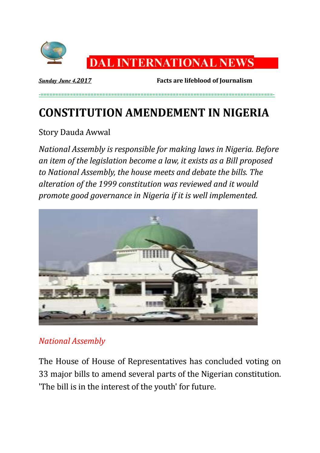 Constitution amendment in Nigeria Constitution, How to