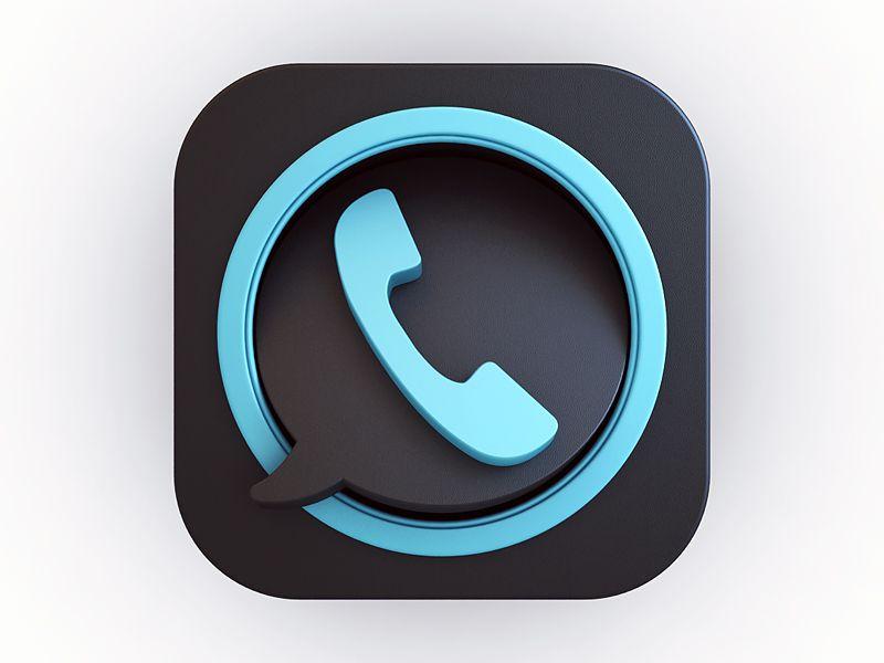Dialer / Chat Ios icon, App icon design, Ios app icon