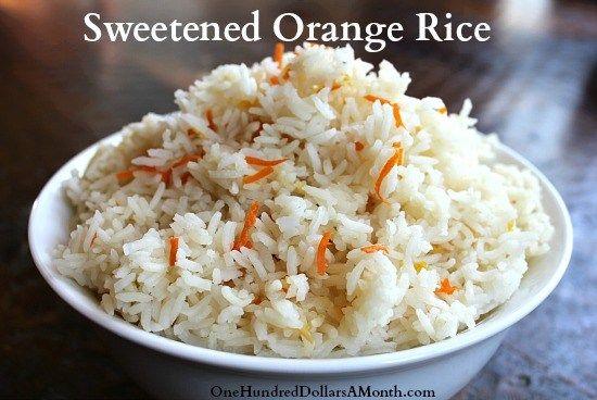 Rice Cooker Recipes - Sweetened Orange Rice #ricecookermeals