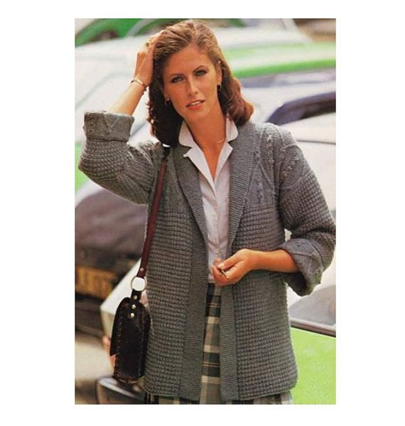 Knitting pattern Woman\'s Wrapover with by MyPatternsCollection ...