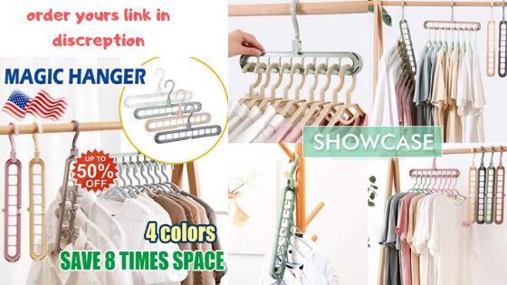 Magic Clothes Hanger Organizer Rotate Anti Skid Folding Hanger With Multifunction Space Saving And Antiskid Clothes Folding Han In 2020 Space Saving Hangers Hanger Clothes Hanger