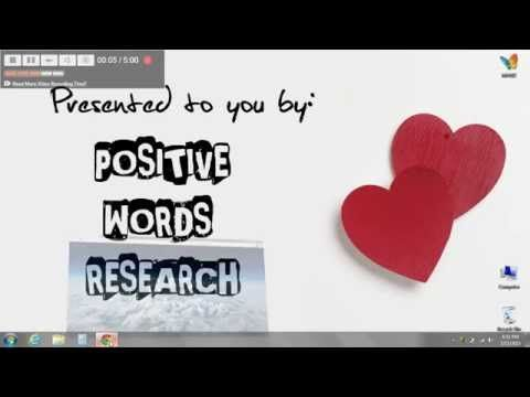 POSITIVE WORDS RESEARCH | Feel the grace of positive words and create your vibration of well-being.