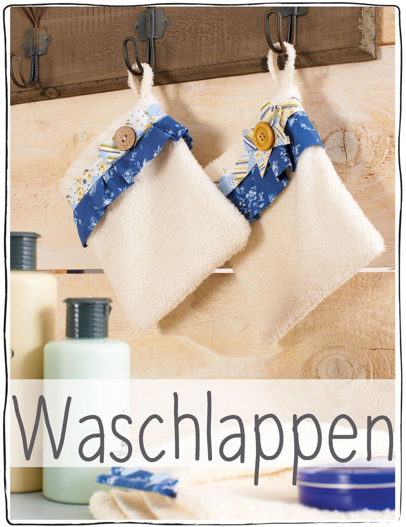 DIY Upcycling / Recycling Bademantel Nähen mit Frotte Waschlappen