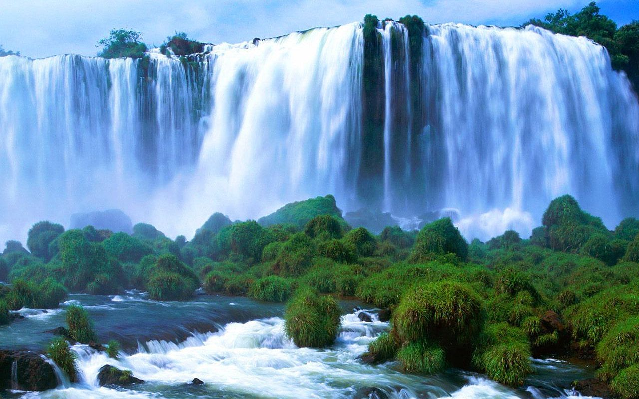 Iguazu Falls Brazil Wallpaper World Most Beautiful Snow Scenes Natural Scenery