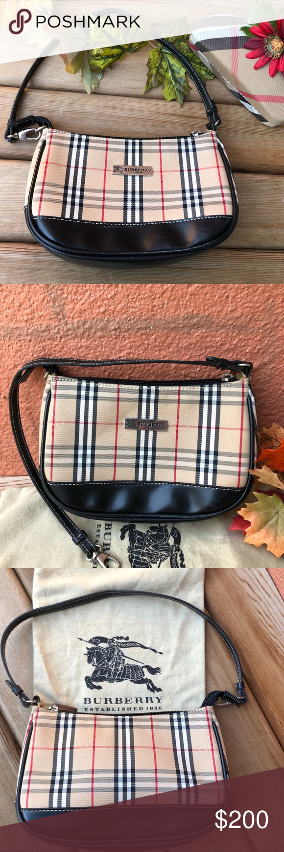 53c7143e26ff Burberry Small Purse Clutch Wristlet - ECU Adorable and identifiable  accessory for the Fashionista Small Burberry Blue Label Purse Worn as clutch