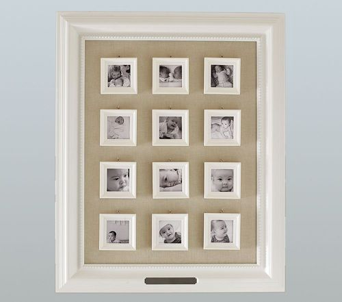 Capturing Baby S First Year First Birthday Crafts Frame Pottery Barn Decor