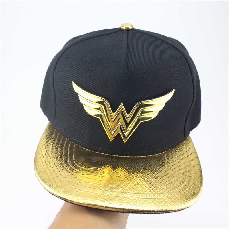 08c678653 Justice Wonder Woman Suit Up Applique Snapback Baseball Hat Snapback ...