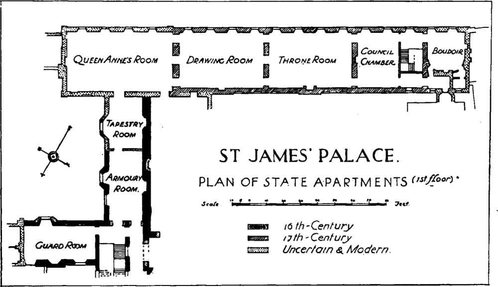 St James Palace Floor Plan | Westminster British History Online Arhitektura Pinterest