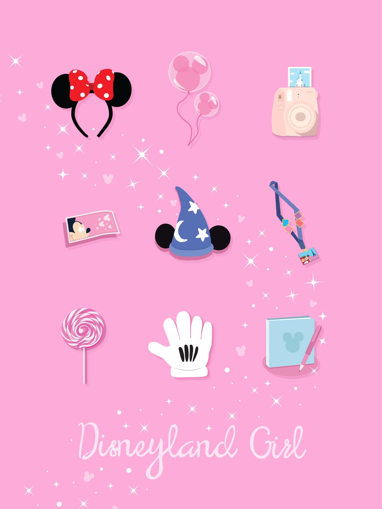 Disney Girl Disneyland Smartphone Ipad Wallpaper