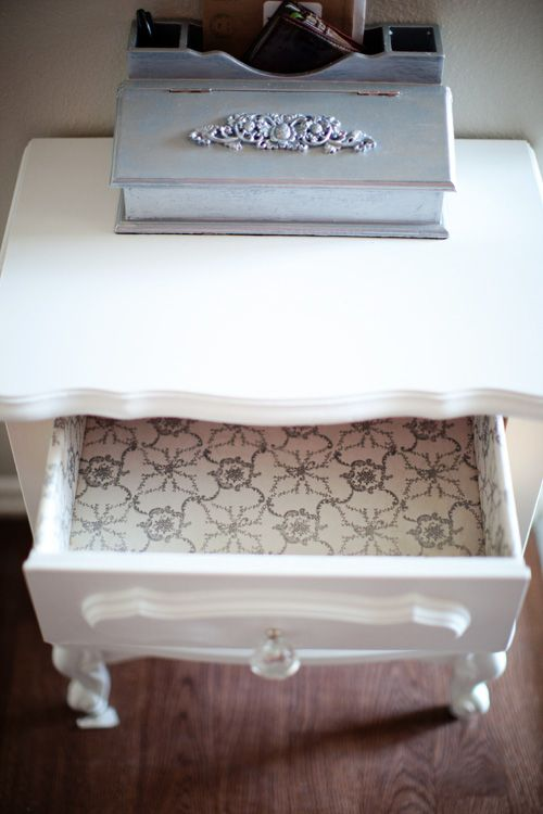 Wrapping Paper Drawer Liners Refinishing Furniture Diy