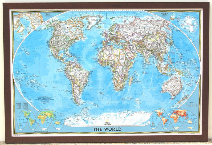 National Geographic World Map World Maps Pinterest Framed Maps