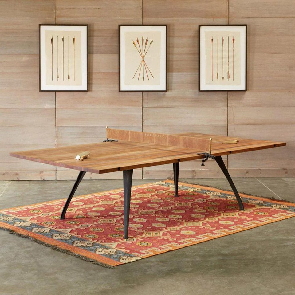 This Beautiful Wood Ping Pong Table Does Double Duty As A Dining Fair Dining Room Ping Pong Table Inspiration Design