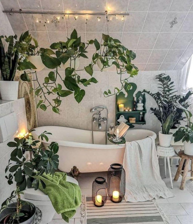 33 The Best Jungle Bathroom Decor Ideas To Get A Natural Impression Home Home Decor Bathroom Trends Plant decor for bathroom
