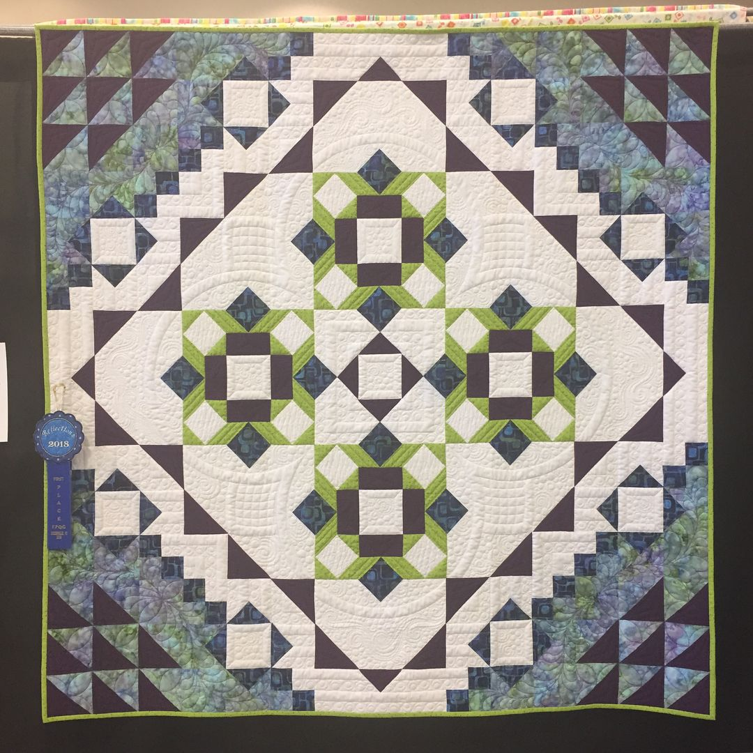 Look What Was Hanging At The Foothills Piecemakers Quilt Guild Show Johellen George S Version Of The Meadow Mystery Quilt My Quilts Quilt Guild Mystery Quilt