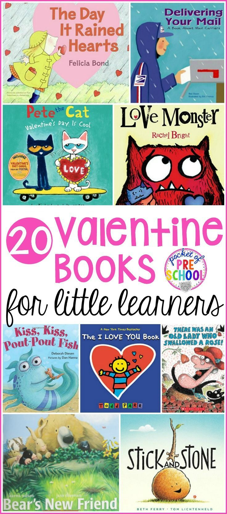 Valentines Day Books for Little Learners  Friendship letter Pre