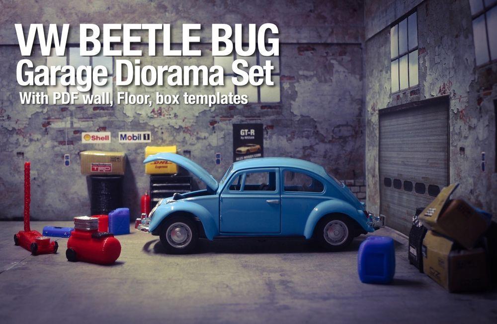 VW Beetle Bug Clic Diecast Model 1 32 Diorama Garage Accessory ...