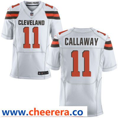 9a3daa3b7 Men s Cleveland Browns  11 Antonio Callaway White Road Stitched NFL Nike  Elite Jersey
