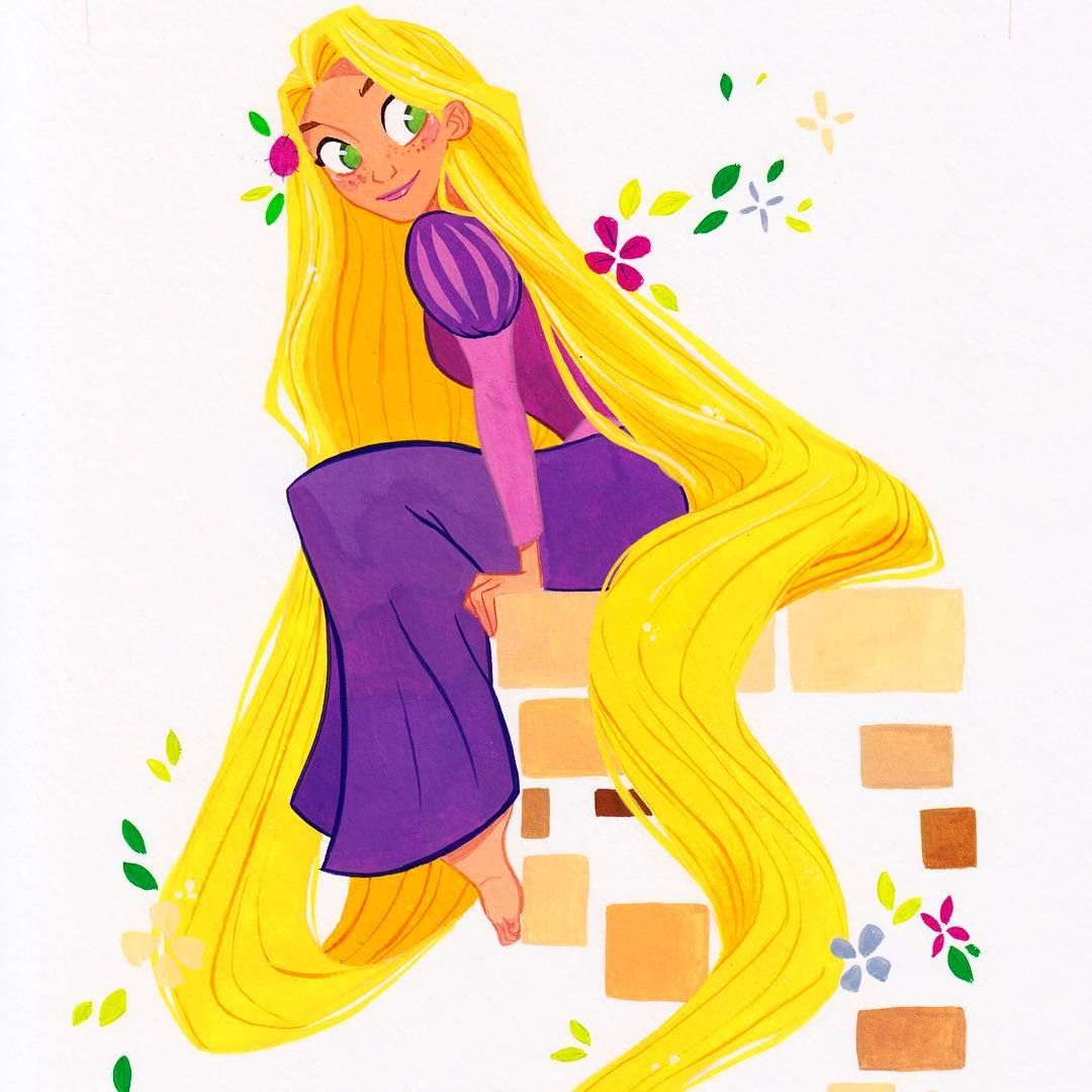 "14.8k Likes, 40 Comments - Pernille Ørum (@pernilleoerum) on Instagram: ""A little peek at the #tangled #gouache #painting I did for @gallerynucleus and their @disney tv…"""
