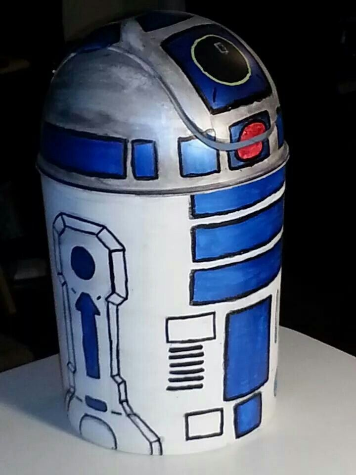 R2d2 Trash Can Projects We Made Star Wars Bedroom