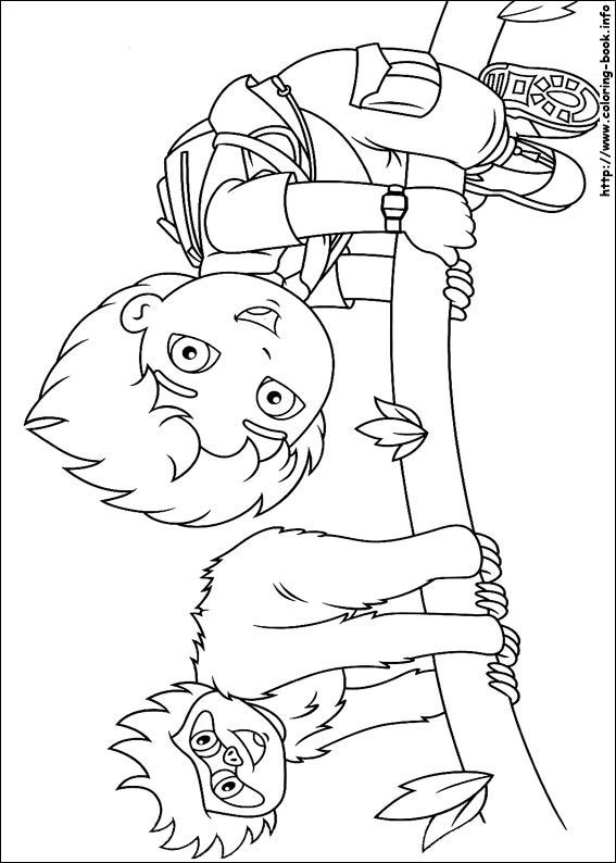 Go, Diego, go! coloring picture | Colin 3rd Bday | Pinterest