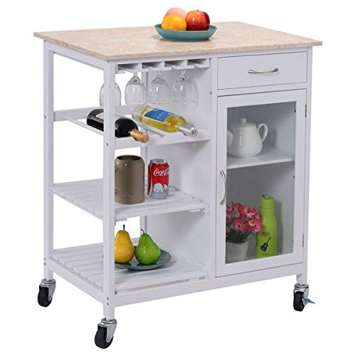 kitchen movable cabinets aid appliance eight24hours portable rolling cart faux marble top island serving utility cabinet