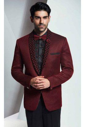 best wedding suits for men in designer maroon color in
