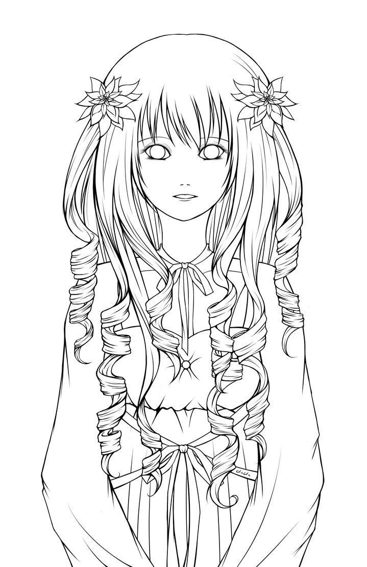 Lineart Poinsettias by PrinceCheChe (With images