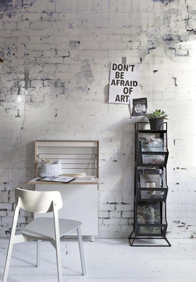 Interieur Ideeen Behang.Bakstenen Muur Behang Rough Bricks As Wall Decoration Vtwonen